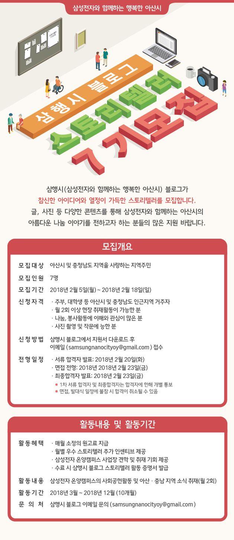 [삼성전자] 나노시티 스토리텔러 7기 모집(~2/18)
